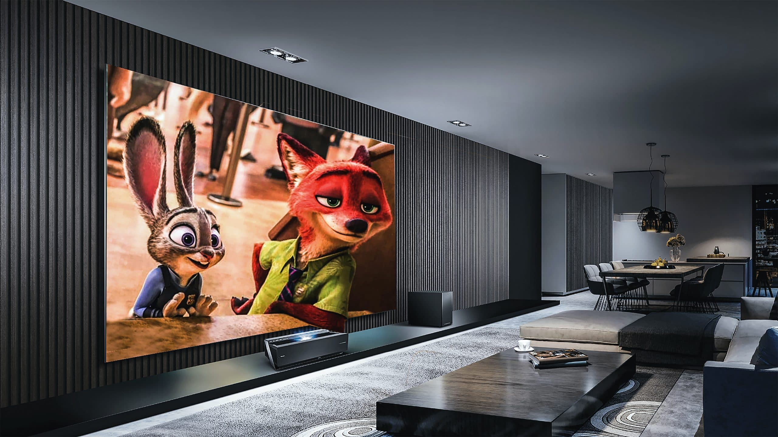 large home screen cinema